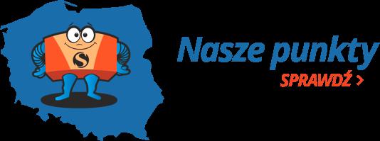 Punkty Paczkowe e-speedpak na mapie Polski