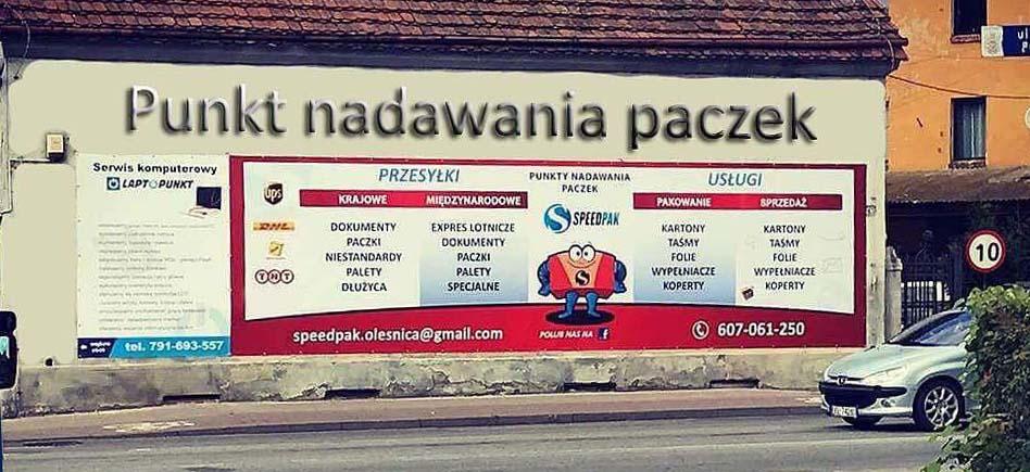 Punkt nadawania paczek kurierskich w Oleśnicy